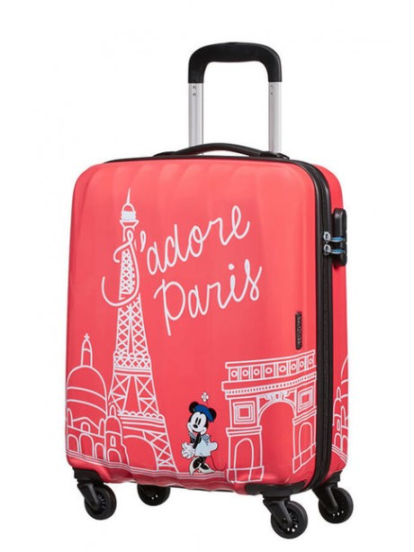 American tourister detký kufor DISNEY LEGENDS POLKA DOT MINNIE SPINNER 55 19C*019