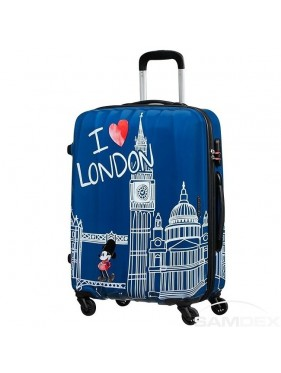 American tourister detký kufor DISNEY LEGENDS MICKEY LONDON SPINNER 65 19C*007