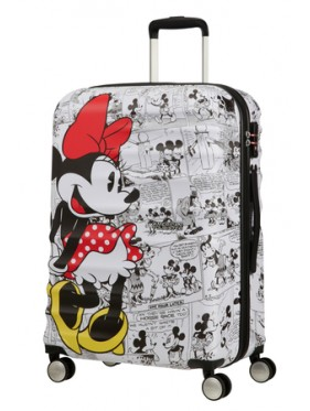 AMERICAN TOURISTER WAVEBREAKER DISNEY SPIN.67/24 DISNEY MINNIE COMICS WHITE