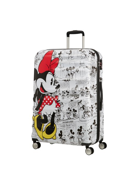 AMERICAN TOURISTER WAVEBREAKER DISNEY SPIN.77/28 DISNEY MINNIE COMICS WHITE